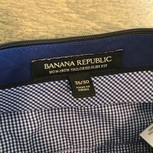 Banana Republic Pants - Men's Banana Republic Non-Iron Tailored Pants